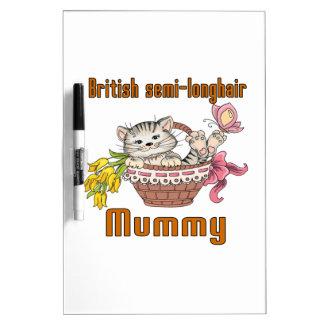 British semi-longhair Cat Mom Dry Erase Board
