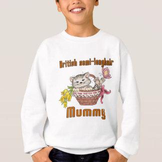 British semi-longhair Cat Mom Sweatshirt