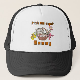 British semi-longhair Cat Mom Trucker Hat