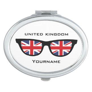 British Shades custom pocket mirror Makeup Mirrors