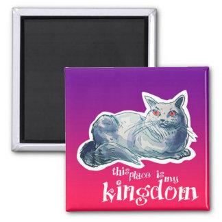 british shorthair cat cartoon style illustration magnet