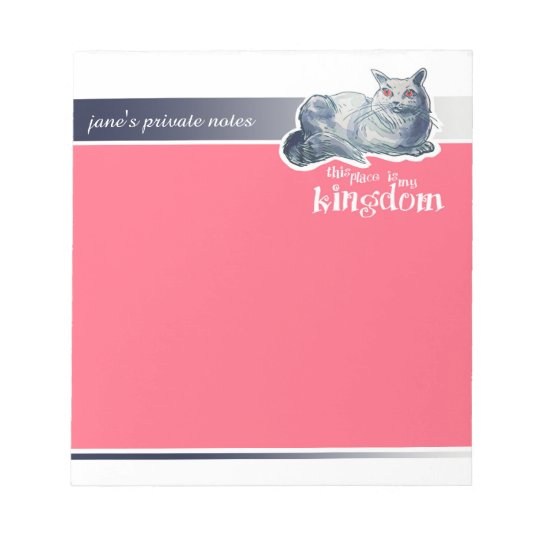 british shorthair cat cartoon style illustration notepad