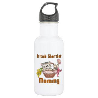British Shorthair Cat Mom 532 Ml Water Bottle