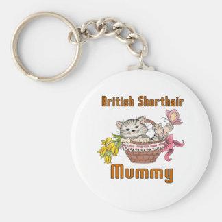 British Shorthair Cat Mom Basic Round Button Keychain