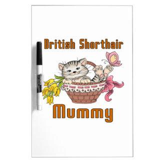 British Shorthair Cat Mom Dry Erase Board
