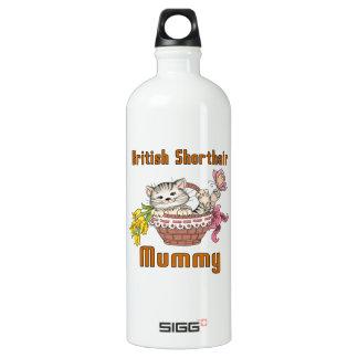 British Shorthair Cat Mom Water Bottle