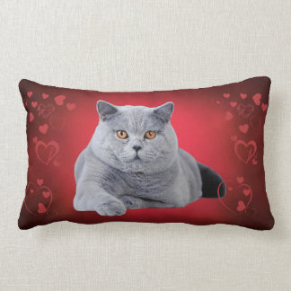 British shorthair love cat lumbar pillow
