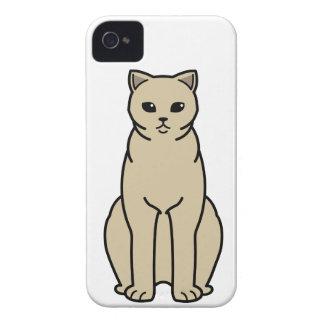 British Shorthair Self Cat Cartoon Case-Mate iPhone 4 Cases