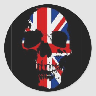 British Skull Classic Round Sticker