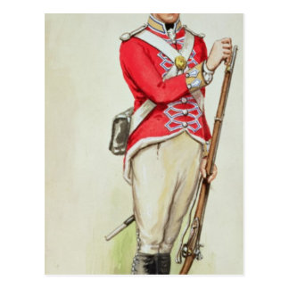 British soldier in Napoleonic times Postcard