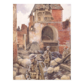 British Soldiers in the Ruins of Peronne, 1917 Postcard