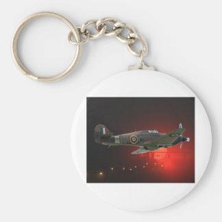 British Spitfire Basic Round Button Keychain
