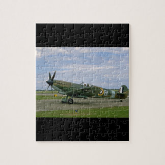 British Spitfire, Camouflage, Taxiing_WWII Planes Jigsaw Puzzle