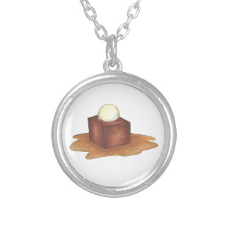 British Sticky Toffee Pudding Dessert Necklace