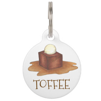 British Sticky Toffee Pudding Foodie Pet Dog Tag