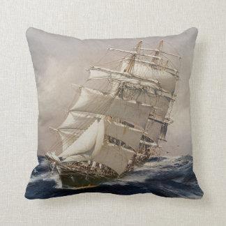 British Tea Clipper Thermopylae Throw Pillow