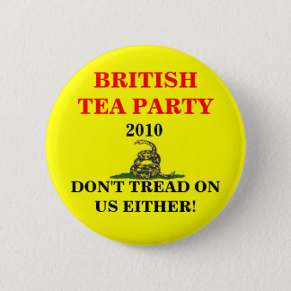 British Tea Party 2 Inch Round Button