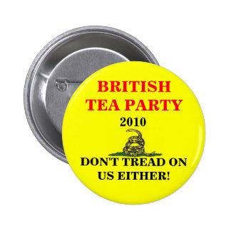 British Tea Party 2 Inch Round Button