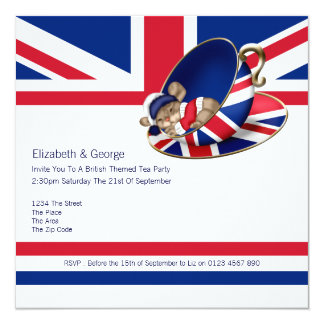 British Tea Party Card