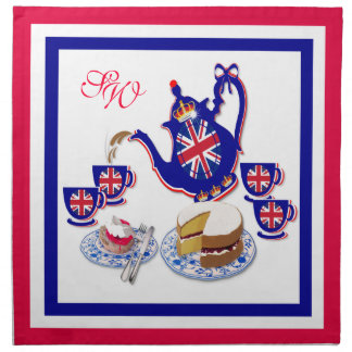 British Tea Time ~ Napkins # 2