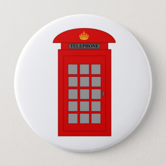 British Telephone Box 4 Inch Round Button