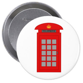 British Telephone Box 4 Inch Round Button