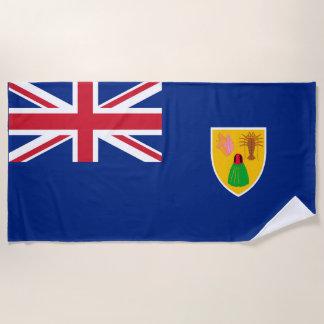 British Territory Turks & Caicos Flag Beach Towel