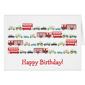 British Traffic Jam Birthday Card