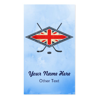 British UK Ice Hockey Custom Business Cards