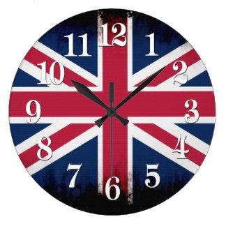 British Union Flag Union Jack Patriotic Design Large Clock