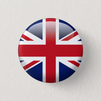 British Union Jack Flag 1 Inch Round Button