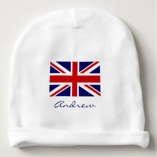British Union Jack flag baby beanie hat for infant