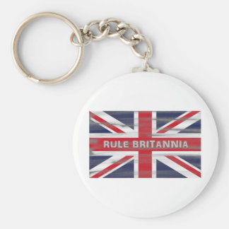 British Union Jack Flag Basic Round Button Keychain