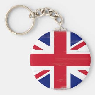 British Union Jack Flag Basic Round Button Keychain