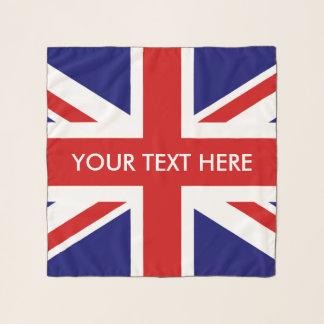 British Union Jack flag custom chiffon scarf