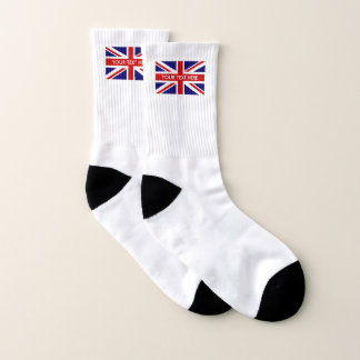 British Union Jack flag custom name sport socks 1