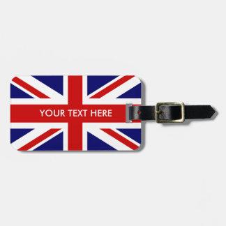 British Union Jack flag custom travel luggage tags