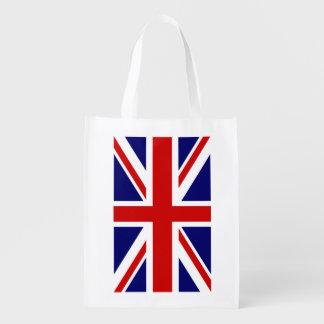 British Union Jack flag grocery shopping bag Reusable Grocery Bag