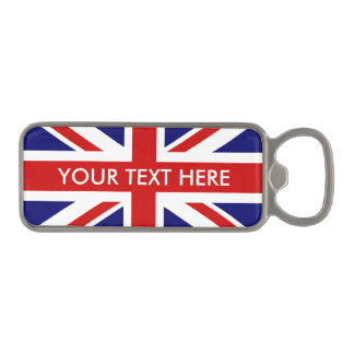 British Union Jack flag magnetic bottle opener