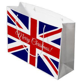 British Union Jack flag Merry Christmas gift bags