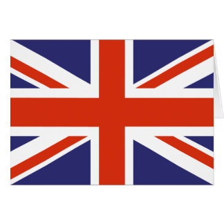 British Union Jack Flag Note Cards