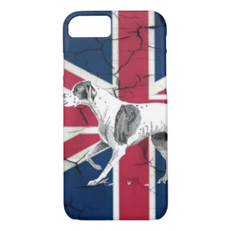 British union jack flag Retro English pointer dog iPhone 8/7 Case