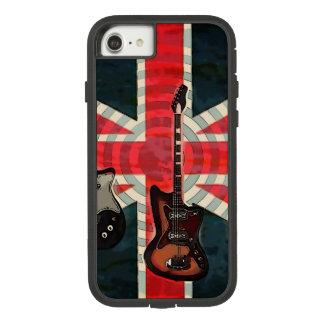 British Union Jack Flag Rock Roll Electric Guitar Case-Mate Tough Extreme iPhone 8/7 Case