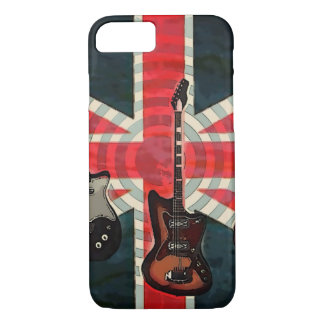 British Union Jack Flag Rock Roll Electric Guitar iPhone 8/7 Case