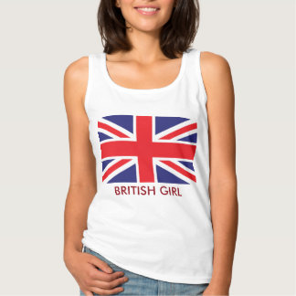 British Union Jack Flag Spaghetti Strap Tank Top