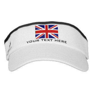 British Union Jack flag sports sun visor cap hat