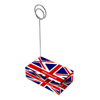 British UNION JACK flag table place card holders Table Card Holder