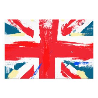 British Union Jack Flag Vintage Worn Photo