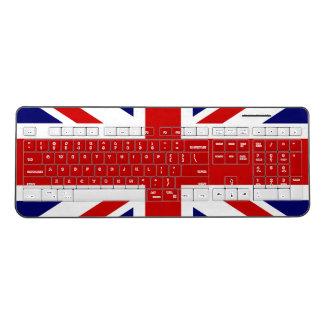 British Union Jack flag wireless computer keyboard