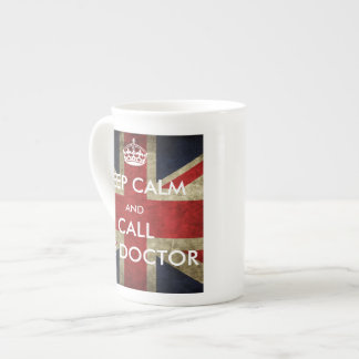 British Union Jack Keep Calm and Call the Doctor Tea Cup